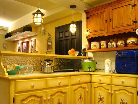 欧式厨房吧台壁画